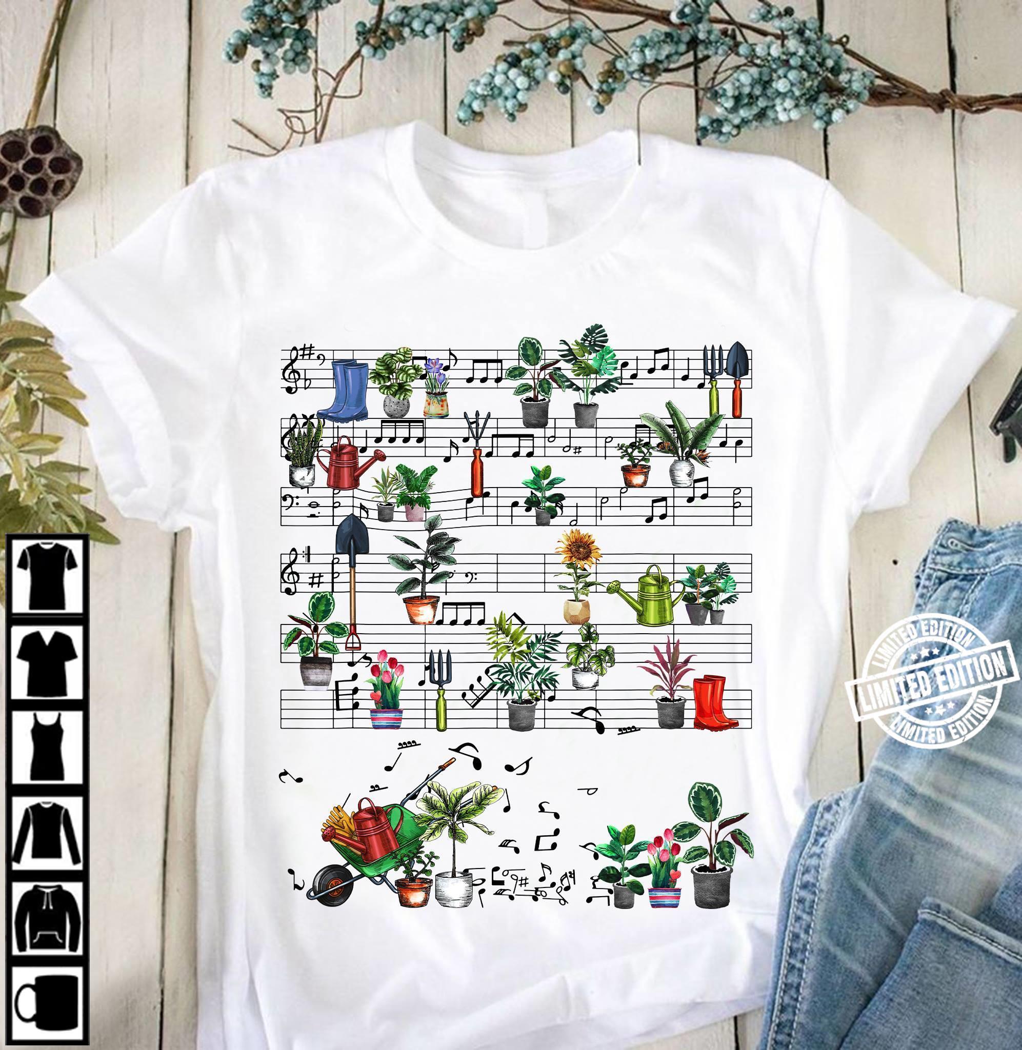Garden Music Note Shirt