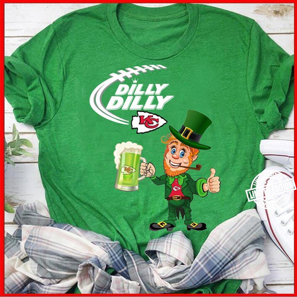 Kansas City chiefs Dilly Dilly St patrick's day shirt