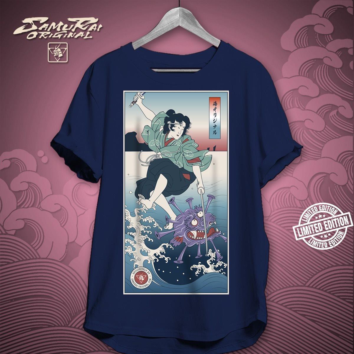 ONNA BUGEISHA vs VIRUS DEMON Samurai shirt