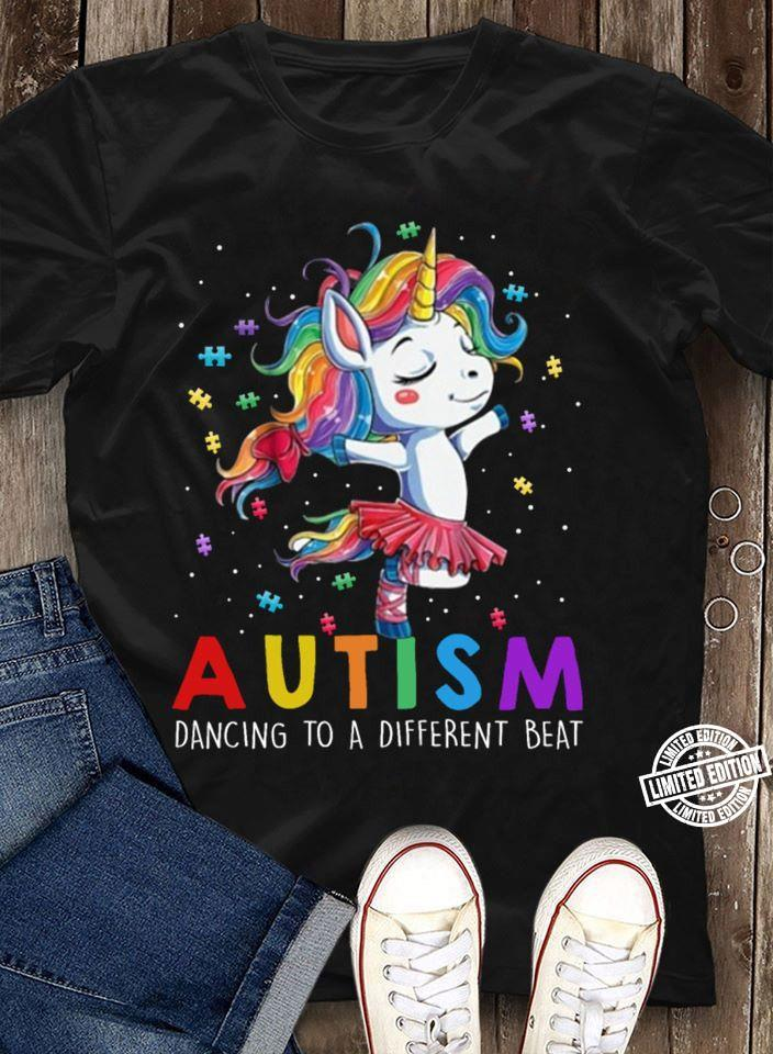 Unicorn autism dancing to a different beat shirt
